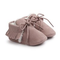 Wholesale suede leather baby moccasins for sale - Group buy Non slip Newborn Baby Boy Girl Moccasins Shoes Fringe Soft Soled Footwear Crib Shoes PU Suede Leather First Walker Crib