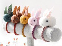 me senti bonito venda por atacado-Animais bonitos Estilo Coelho Bandas de Cabelo Sentiu Orelhas de Coelho de Pelúcia Tridimensionais Headband Para Crianças Meninas Acessórios Para o Cabelo