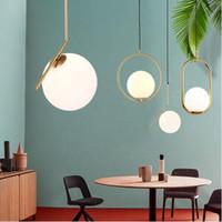 goldkugel deckenleuchte großhandel-Moderne minimalistische pendelleuchte lampe nordic decke kleidung dekoration glaskugel lampe für wohnzimmer schlafzimmer esszimmer