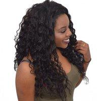 монгольский парик оптовых-Монгольский Loose Wave Full Lace Человеческих Волос Парики Отбеленные Узлы с Волосами Младенца Девы Парик Фронта Шнурка Glueless 6-26 дюймов Пинг