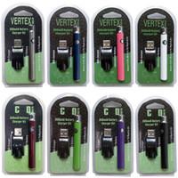 ingrosso batteria vaporizzatore blu-Batteria calda della penna di Vape del preriscaldamento del vertice caldo 350mAh Batteria variabile del filo di tensione 510 di preriscaldamento per le sigarette elettroniche Batterie delle cartucce di Vape