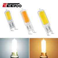 Wholesale warm white g9 halogen bulbs resale online - EeeToo Mini G9 LED Bulb Lighting W W W COB Glass Body LED Lamp Dimmable V Replace Halogen Ultra Bright Light Bulbs Home