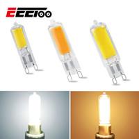 ingrosso lampade alogene-EeeToo Mini G9 LED lampadina di illuminazione 5W 7W 10W COB vetro Lampada LED Corpo dimmerabili 220V Sostituire alogene ultra lampadine luminosa della casa