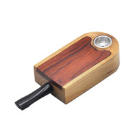 Wholesale wooden smoke tool for sale - Group buy Newest Classic wooden pipe Tobacco Herbal Filter Cigarette Pipes Cans Holder detachable portable wooden smoking Tool