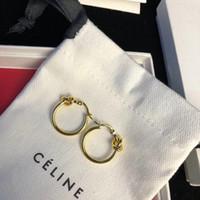 nouveau cadeau en laiton achat en gros de-Nouvelle arrivée style simple en laiton matériel rond Forme et noeud pendentif goutte boucle d'oreille et anneau pour les femmes cadeau de mariage bijoux PS6679A