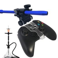 Wholesale ps4 controller handle for sale - Hookah Smoke Play Hose Shisha Holder Aluminum Handle Pipe Holder For PS4 Slim Pro Game Controller Chicha Narguile Hose Smoking Accessories