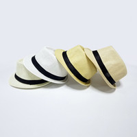 Wholesale black felt fedora resale online - 7Colors available custom straw panama fedora sun hat with band summer felt hat Factory sun protection