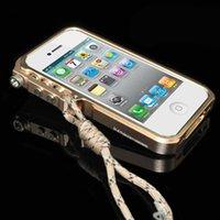 ingrosso custodia paraurti 4s-Custodia per paraurti in metallo Trigger per iPhone 5s 5 se 5C 4 4s M2 Custodia per telefono in alluminio aeronautico di qualità premium