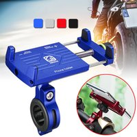 motorcycle mounting brackets toptan satış-Alüminyum bisiklet cep telefonu tutucu standı dağı 360 rotasyon mtb bisiklet telefon klip iphone 6 için motosiklet gidon braketi 8x xs # 499654