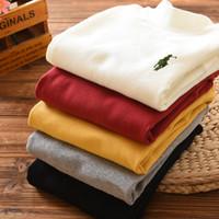 kızlar uzun kollu kışlık gömlek toptan satış-Çocuklar giysi tasarımcısı erkek uzun kollu pamuklu bebek kız giysileri vêtements bébé garçon çocuklar polo gömlek sonbahar kış 5 renkler Ücretsiz kargo