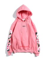 Wholesale arrow hoodie online – oversize In autumn and winter of religious flannelette sweater cherry arrow print couple s zipper sweater and sweater Mens Hoodies