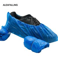 ingrosso sacchetti di stoccaggio di scarpe in plastica-Aloefalling scarpe usa e getta Borsa sacchetti di immagazzinaggio coperta di plastica antipolvere copre per signore e uomini in fabbrica 100 pz SC49