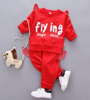 çocuklar için giyim giysileri toptan satış-Bebek Kids'Suit Güz 2019 Yeni Kids 'Uzun Kollu Kids'Babies' Sonbahar Elbise Kids'Clothes takım elbise En çok satan yeni modeller BOYUTU 80-110 T