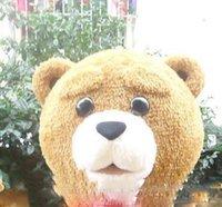 mascotes de urso adulto venda por atacado-2019 Alta qualidade Teddy Bear Adult Mascot Costume para Dia Dos Namorados L Dia De Ação De Graças Dia Das Bruxas Do Dia Das Bruxas Do Traje Da Mascote