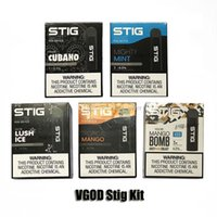 Wholesale charging pack resale online - VGOD STIG Disposable Pod Kit Device Pack mAh Fully Charged Battery with ml Cartridge E Cigarettes Vape Pen Kit