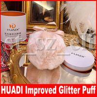 feenhaft rosa großhandel-HUADI Fairy Bomb Pink Aufhellender Körper Verbessertes Glitter Highlight Ball Bronze Textmarker Ball Puff Make-up-Tool