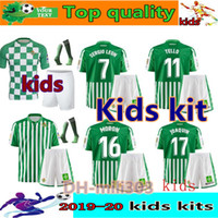 Wholesale jersey soccer children for sale - Group buy 2019 REAL BETIS Kids kits Soccer Jerseys JOAQUIN BOUDEBOUZ MANDI TELLO INUI JAVI GARCIA kids child football shirt uniforms set