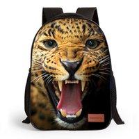 impressão do leopardo das trouxas dos miúdos venda por atacado-Datomarry 10 Polegada Moda Little Kids Animal Tigre Leopardo Impressão Pré-escolar mochila Crianças Clássicas Bolsa Satchel Crianças