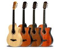 ingrosso chitarre in legno standard-chitarra acustica standard 38 mogano in primo piano Olmo Sapele Zebra Wood Principiante Introduzione Pratica Strumento musicale