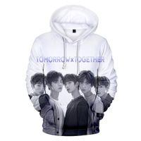 hoodies nouveau style coréen achat en gros de-Nouveau TXT Sweat Sweat à capuche Hommes / Femmes Hoodies TXT Sweat Femmes Pullovers Kpop Korean Style Casual Pullovers vêtements