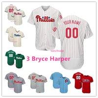 baseball jerseys großhandel-Gewohnheit 2019 New Phillies Philadelphia 3 Bryce Harper Jersey 10 JT Realmuto Philadelphia 7 Maikel Franco 17 Rhys Hoskins 27 Aaron Nola S-4XL