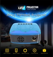 mini proyector usb accionado al por mayor-LED Mini Proyector HD 1080P Portátil HDMI USB AV Soporte Banco de potencia Carga para proyectores domésticos