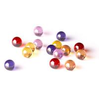 ingrosso perline di vetro giallo-Nuovo quarzo terp perla inserto 6mm quarzo terp perla palla perle di vetro perline terp con giallo rosso rosa viola arancione per quarzo banger