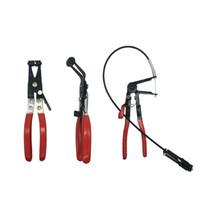 ingrosso tubi lunghi-Strumenti Automotive veicolo Tipo di cavo flessibile Wire Long Reach Blocco Fascetta auto rimozione di riparazione bundle install pinza a mano morsetto Strumenti Hose