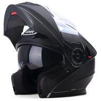 bisiklet kaskı erkek xl toptan satış-Hakiki YEMA927 Flip Up Yarış Motosiklet Kask Motosiklet Çift Visor Lens Erkekler Sıcak Kış Yaz Motor Bike Scooter Kaskları
