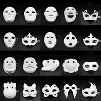 Wholesale mask children diy for sale - Group buy Papper DIY Party Mask Creative Painting Halloween Chirstmas Party Mask Children Women Men DIY Half Face Full Face Masks HHA666