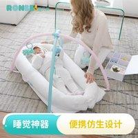 tasarım beşikleri toptan satış-Ergonomi tasarım taşınabilir beşik çok fonksiyonlu yenidoğan yatak ile basit bir yatak biyonik tasarım bebek yatağı Co-Sleeping Cribs