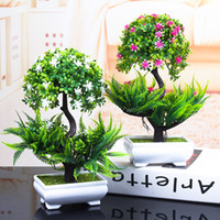 ingrosso albero di casa bonsai albero-1 PZ Piante Artificiali Colorate Bonsai Piccolo Albero Piante in Vaso Falso Albero Bonsai per la Decorazione Domestica del Giardino