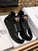 high end stiefel groihandel-2020j High-End-Custom Medusa High-Schuhe Herren-Rohr kleine weiße Sportschuhe und Schuhe Flut Stiefel Freizeit-Männer, Größe: 38-45