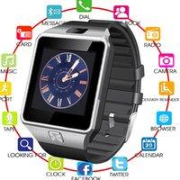 смарт-часы телефон facebook оптовых-2019 лучшие Bluetooth смарт часы DZ09 Smartwatch для Android Apple Phone Clock поддержка Facebook Whatsapp SD SIM с камерой