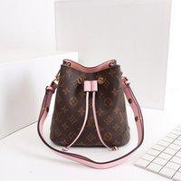 сумка бренд цветы печать оптовых-NEONOE 44022 Модные сумки на ремне, кожаное ведро, сумка женщин известных брендов, дизайнерские сумки, высокое качество, цветочная печать, сумка через плечо
