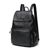 sac à dos korea achat en gros de-Femmes douces sac à dos en cuir véritable sacs à dos vintage pour les adolescentes sacs d'école dames sacs à bandoulière New Korea fashion C261