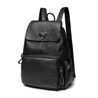Wholesale bag school girl korea for sale - Group buy Women soft Genuine Leather Backpack vintage backpacks for teenage girls school bags ladies shoulder bags New Korea fashion C261