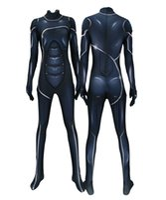ingrosso bodysuit nero stretch-Donne Black Cat PS4 Catwomen Stretch Costume Cosplay Lycar Spandex di alta qualità Supereroe Zentai Party Tuta Catsuit Tuta
