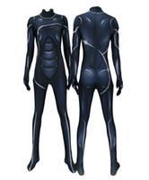macacão de lycra preto venda por atacado-Mulheres Gato Preto PS4 Catwomen Trecho Cosplay Lycar Spandex Alta Qualidade Superhero Zentai Bodysuit Bodysuit Catsuit Macacão