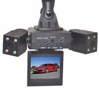 cámara de visión nocturna del vehículo al por mayor-Doble lente de 2 pulgadas TFT 1080P Cam cámara del vehículo de 8 LED infrarrojos de visión nocturna del coche DVR H3000 DDA366