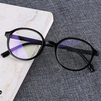 Wholesale blue spectacle frames resale online - Fashion computer spectacle frame anti blue light goggles anti glare spectacles frame women s round transparent lenses glasses