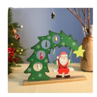Wholesale swing painting for sale - Group buy 2019 new Santa Claus swings wooden painted Christmas tree desktop Christmas decorations ornaments