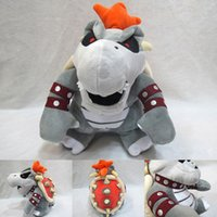 Wholesale bowser plush toys resale online - Super Mario figure Plush Toys Bone fire dragon gray bowser Koopa Stuffed Animals soft toy Children s gift toy DHL
