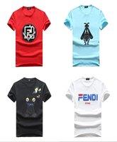 homens da motocicleta camisetas venda por atacado-2019FD mens designer de t rua moda carta impressão T-shirt Camisetas de Verão Em Linha Reta Moda Preto Branco Motocicleta Homens Mulheres Tees