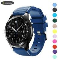 engrenagem ativa venda por atacado-Gear s3 Frontier Strap para samsung Galaxy watch 46mm 42mm huawei watch gt strap 22mm band correa amazfit bip