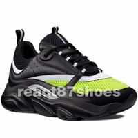 hommes français chaussures noires achat en gros de-Nouveau B22 Hommes Noir Baskets Haute Qualité Blanc Vert Triple Tess Mesh Baskets Mode Femmes De Luxe Français Designer Casual Maison Chaussures De Course