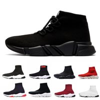 zapatos de encaje de diseñador al por mayor-Balenciaga shoes  2019 ACE Luxury Brand Sock Shoes Speed Designer Trainer Running Race Runners Black White Red Men Women Fashion Casual Sports Sneakers 36-45