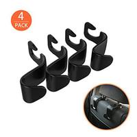4-Pack Car Vehicle Back Seat Headrest Hook Hanger Storage for Purse Groceries Bag