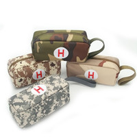 Wholesale cloth pencil case bags resale online - Camouflage Pencil Case Student Pen Container Bag Zero Purse Oxford Cloth Birthday Present Anti Wear Popular wz C1