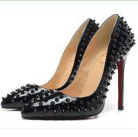 meistverkaufte high heels großhandel-Beste Verkauf 2019 Frauen Pumpt Stiletto High Heels Party Schuhe Frau Sexy Spitz Zapatos Mujer Nieten Design Dame Hochzeit Schuhe